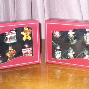 St.Nicholas Square mini glass ornaments (#EV785)